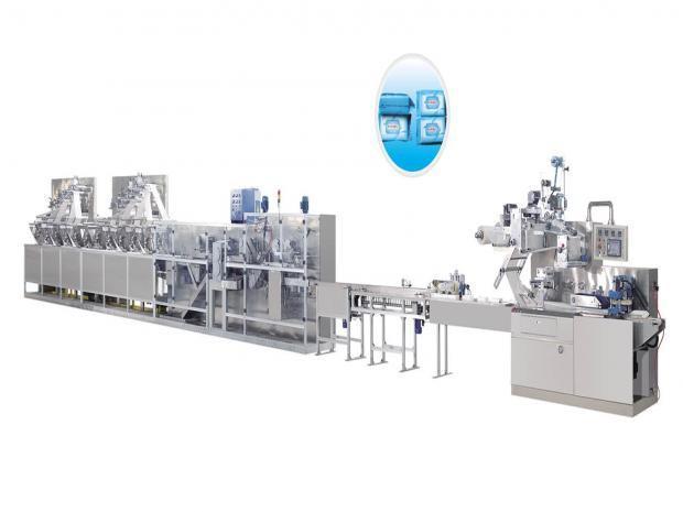Máquina para Fazer e Embalar Lenços Umedecidos - Grandes Embalagens