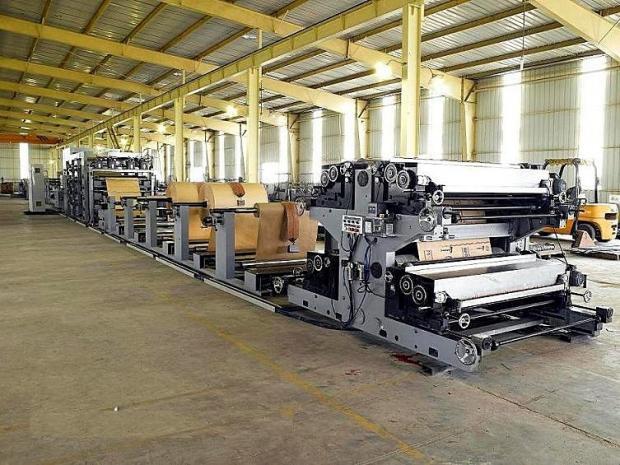 Máquina SOS para Sacos de Papel com Fundo Quadrado  Alimentação em Folha