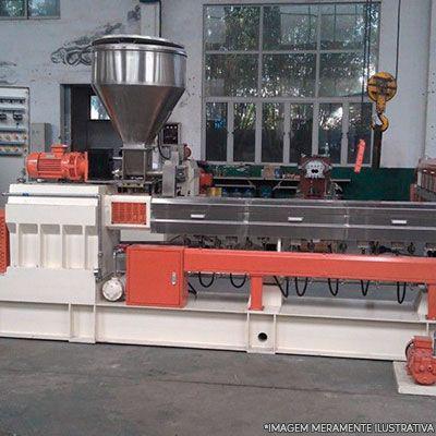 Maquina Canudinho Papel e Extrusora Granuladora