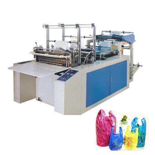 Maquina de corte e solda de sacos plasticos